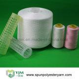 Filato filato poliestere bianco 100% del Virgin della Cina per il filato cucirino
