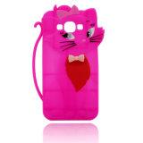 Caisse animale de silicones de configuration de giraffe pour le téléphone cellulaire