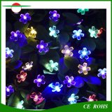Luzes solares da corda, multi diodo emissor de luz solar das luzes feericamente 50 de jardim de flor do pêssego da cor impermeável para a decoração ao ar livre do quarto do casamento da festa de Natal do pátio