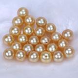 Perla de oro teñida de agua dulce del color de la dimensión de una variable redonda de la perla