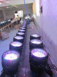 12/18*18W Rgbwauv 6in1のズームレンズLEDの同価64/LEDの壁の洗濯機ライトWaterproo IP 65