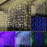 La fábrica aprobada RoHS al por mayor de Ce& suministra la luz de la cortina del carámbano de Navidad LED de la Navidad de los 4m*0.6m para la decoración al aire libre de la boda del festival del partido