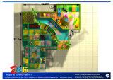 Equipamento interno do campo de jogos dos desenhos animados felizes
