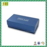 Boîte-cadeau magnétique de estampage chaude argentée de fermeture