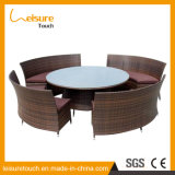 Garden Restaurante / Dining Furniture Pátio Outdoor Rattan Chair and Table Set