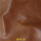 Populäres gesponnenes Korn PUfaux-Leder für Form bereift Material