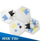 Azulejo geométrico Mskxh003A del hexágono de Wall&Floor de la porcelana