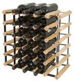 Полка отделки твердой древесины шкафа вина 30 бутылок
