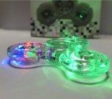 De transparante LEIDENE Lichte Spinner van de Hand friemelt Kristal Plastic Spinner