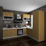 Keukenkasten van de Melamine van de Korrel van de luxe de Donkere en Lichte Houten