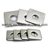 Rondelle carrée plate encochée par A2-70 de l'acier inoxydable 304 DIN 436