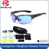 Esportes protetores UV que dão um ciclo óculos de sol das atividades ao ar livre dos vidros com a lente 5 permutável Unbreakable