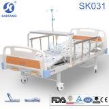 Sk031 수동 침대 두 배 크랭크 병원 가구 환자 침대