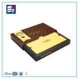Подгонянный шоколад сползая коробку подарка ювелирных изделий коробки ящика упаковывая бумажную