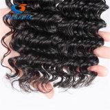 cabelo Curly da onda do cabelo não processado profundo peruano de Puruvian do Virgin da onda 10A