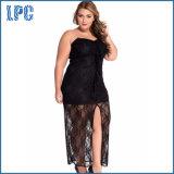 Strapless Plus Size Lace Cocktail Dress para Clubwear