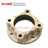 Кольца места CNC алюминия подвергая механической обработке с фланцом