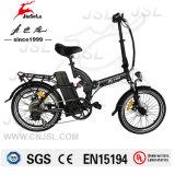 TUV Negro 36V 250W marco de aleación de aluminio plegable E-Bike (JSL039S)