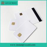 Carte à puce imprimable de PVC 4428 de blanc de jet d'encre avec la piste magnétique de Hico