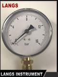 081プラスチックケースのゲージのWikaのタイプ100mmの最下の接続の圧力計の工場