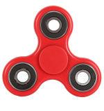 Personnaliser soulagent le gyroscope rouge de doigt en métal de triangle de jouet de main de tension