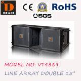 Vt4889 de Dubbele Serie Met drie richtingen van de Lijn van 15 Duim, het Systeem van de Serie van de Lijn, OpenluchtGebruik, PROGeluid