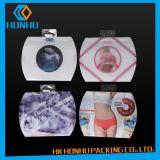 Caixas de empacotamento do roupa interior das mulheres plásticas do projeto da impressão