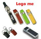 Movimentação creativa do flash do USB do couro da forma da personalidade da vara de couro do USB