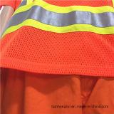 Workwear 100% Hoodie ватки теплого толщиного полиэфира шнура крышки одежды померанцовый