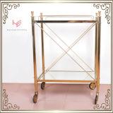 Het Meubilair van het Roestvrij staal van het Karretje van de Kar van het Karretje van de alcoholische drank (RS150503)
