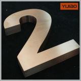 3D는 끝마무리 금속 채널 편지 날조한 편지 집 번호 알파벳을 솔질했다