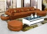 Софа живущий мебели комнаты самомоднейшая с реальной кожаный софой (UL-NS261)