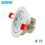 高品質7W LED Downlight Epistarの点ライトDimmableの暖かい白
