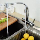 Robinet de mélangeur de la cuisine 2-Function d'eau du robinet de voie du laiton 3 de Flg Soild