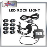 Luz de roca multicolor LED de Bluetooth Control Kit de vainas 4/6/8/12