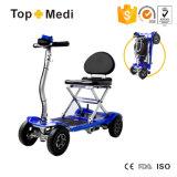 de Lichtgewicht Gemakkelijke Vouwende Elektrische Autoped met 4 wielen Tew039 van de Mobiliteit