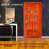 Porte-fenêtre à une seule feuille en bois de couleur de peinture de couleur de peinture (GSP2-021)