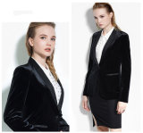 Сделано к блейзеру Measure Women Fashion Stylish Velvet Suit