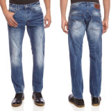 2016本の方法メンズ偶然のまっすぐな足の綿の伸張のデニムのジーンズ