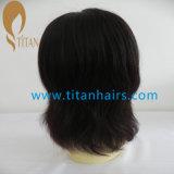 Peruca reta do cabelo humano da beleza 1# Remy para a mulher