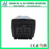 Invertitore ad alta frequenza di DC48V AC110/120V 2000W con il visualizzatore digitale (QW-M2000)