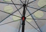 Ombrello di spiaggia con il tessuto Upf50+, alta qualità del poliestere 160g con due Windows