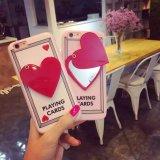 Аргументы за iPhone6 горячего зеркала сердца шаржа пластичное