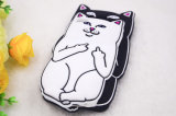 Téléphone cellulaire chanceux de silicones de chat de doigt solide drôle (XSDW-010)