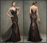 Vestido formal B24 da matriz dos vestidos de Tulle do laço dos vestidos de noite da ilusão