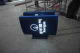 Gaz annonçant le signe lumineux de film publicitaire de logo
