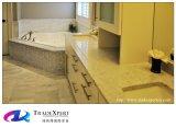 Parte superiore di marmo di vanità della stanza da bagno di Bianco Carrara per parte superiore di marmo bianca della stanza da bagno la contro