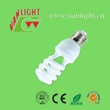 3 색 T3 시리즈 절반 나선형 에너지 절약 램프
