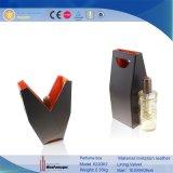 Única caixa do vinho da exposição do couro do plutônio do frasco