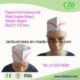 Chapeau de papier remplaçable de fourrage (double bande rouge)